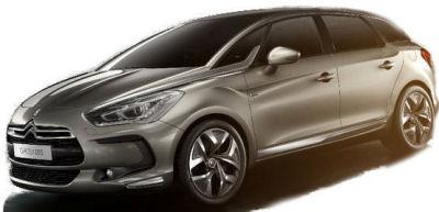 Citroën vient de révéler les lignes de sa Citroën DS5. On note une filiation évidente avec le concept car Citroën C-Sportlounge dans quelques détails esthétiques, manifestement recherchée par Citroën. Haut de gamme, monospace et sportif: cette DS5 transpose en série les valeurs du C-Sportlounge..